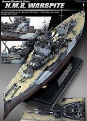 Военен кораб - Queen Elizabeth H.M.S. Warspite - Сглобяем модел -