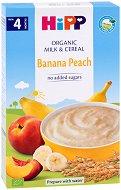 HIPP - Био инстантна млечна каша с банан и праскова - Опаковка от 250 g за бебета над 4 месеца - продукт