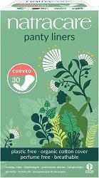 Natracare Panty Liners Curved - Ежедневни дамски превръзки в опаковка от 30 броя - лосион
