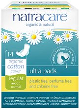 Natracare Ultra Pads Regular - Дамски превръзки с крилца в опаковка от 14 броя - балсам