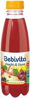 Сок от червени плодове със съдържание на желязо - Шише от 500 ml за бебета над 6 месеца -