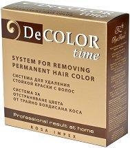 Система за отстраняване на цвета от трайно боядисана коса - Decolor time - продукт