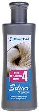 "Blond Time Silver Shampoo with Anti-Yellow Effect - Оцветяващ шампоан за изрусена и сива коса от серията ""Blond Time"" - олио"