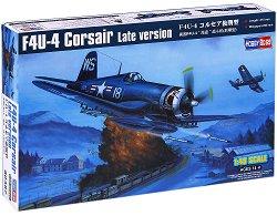 """Военен самолет - F4U-4 """"Corsair"""" (късна версия) - Сглобяем авиомодел - продукт"""
