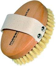 Професионална пилинг четка за тяло - С естествен косъм и фибри -