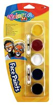 Бои за рисуване върху лице - Комплект от 5 цвята с апликатори