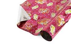 Розов опаковъчен лист за детски подаръци - Winx - Фолио с размери 40 x 150 cm
