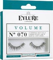Eylure Volume 070 - Мигли от естествен косъм в комплект с лепило - продукт