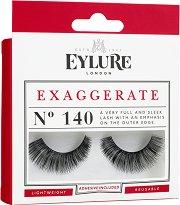 Eylure Exaggerate 140 - Мигли от естествен косъм в комплект с лепило - продукт