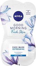 Nivea Good Morning Fresh Skin Face Mask - Хидратираща маска за нормална кожа с алое вера и витамин E - сапун