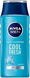 Nivea Men Care Shampoo Cool Fresh - Шампоан за мъже с ментол за нормална или мазна коса -