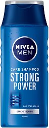 Nivea Men Care Shampoo Strong Power - Шампоан за мъже с морски минерали за ежедневна употреба - сапун