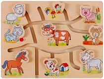 Напасни животните във фермата - Забавна образователна игра -
