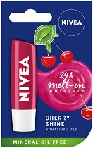Nivea Cherry Shine Lip Balm - Балсам за устни с аромат на череша -