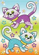 Създай сам картина с пайети - Котки - Творчески комплект - играчка