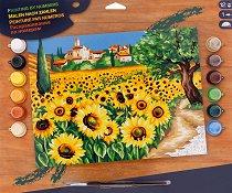 Нарисувай сам шедьовър - Слънчогледи - Творчески комплект - творчески комплект
