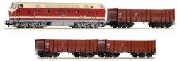 Товарен влак с дизелов локомотив - BR 119 - Стартов комплект с аксесоари -