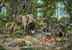 Африканска джунгла - пъзел