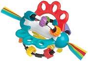 Дрънкалка с дъвкалка - Топка Откривател - За бебета над 6 месеца -