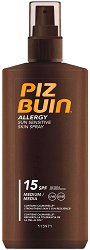 "Piz Buin Allergy Sun Sensitive Skin Spray - Слънцезащитен спрей за чувствителна кожа от серията ""Allergy"" - шампоан"