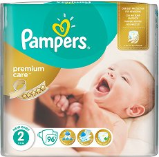 Pampers Premium Care 2 - New Baby - Пелени за еднократна употреба за бебета с тегло от 3 до 6 kg - купичка