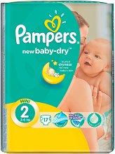 Pampers New Baby Dry 2 - Mini - Пелени за еднократна употреба за бебета с тегло от 3 до 6 kg - шише