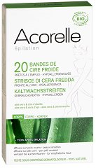 Acorelle Hair Removal Cold Wax Strips - Комплект от 20 броя епилиращи ленти за тяло -