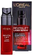 "L'Oreal Revitalift Laser Renew Anti-Ageing Super Serum - Серум против стареене от серията ""Revitalift Laser Renew"" - продукт"