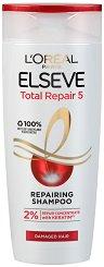 Elseve Total Repair 5 Shampoo - Възстановяващ шампоан за изтощена коса - продукт