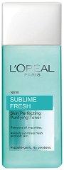 """L`Oreal Sublime Fresh Purifying Toner - Тоник за нормална и смесена кожа от серията """"Sublime Fresh"""" - гребен"""