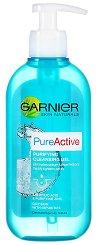 Garnier Pure Active Purifying Cleansing Gel - Почистващ гел за лице с помпа -