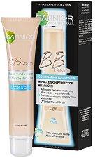 """Garnier BB Cream Miracle Skin Perfector Oil Free - Крем за изравняване на тена за мазна към смесена кожа от серията """"Skin Naturals"""" - тоник"""