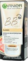"Garnier Skin Naturals BB Cream Classic - SPF 15 - BB крем за изравняване на тена от серията ""Skin Naturals"" - крем"