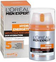 """L'Oreal Men Expert Hydra Energetic Cream - Крем за лице срещу признаците на умора от серията """"Men Expert Hydra Energetic"""" - продукт"""