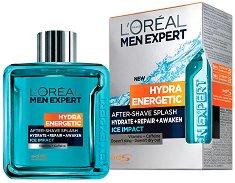 """L'Oreal Men Expert Hydra Energetic After Shave Splash - Ice Impact - Лосион за след бръснене с охлаждащ ефект от серията """"Men Expert Hydra Energetic"""" - паста за зъби"""