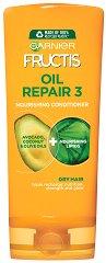 Garnier Fructis Oil Repair 3 Fortifying Conditioner - Укрепващ балсам за суха и увредена коса с комплекс от 3 масла - продукт