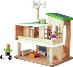 Екологична къща за кукли - Детска дървена играчка - играчка