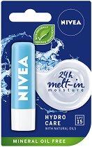 Nivea Hydro Care Lip Balm - SPF 15 - Хидратиращ балсам за устни - крем
