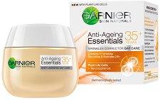 "Garnier Anti-Ageing Essentials Daily Care - 35+ - Дневен крем против бръчки от серията ""Garnier Essentials"" - маска"