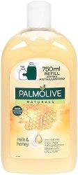 """Palmolive Naturals Milk & Honey Liquid Handwash Refill - Пълнител за течен сапун с мед и мляко от серията """"Naturals"""" - шампоан"""