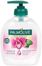 """Palmolive Naturals Milk & Orchid Liquid Handwash - Течен сапун с аромат на орхидея от серията """"Naturals"""" - мляко за тяло"""