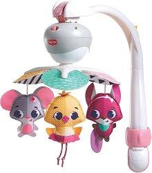 Музикална въртележка 3 в 1 - Take Along Mobile Tiny Princess Tales - Играчка за бебешко креватче, кошче или количка -