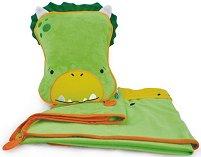 """Възглавница и одеяло 2 в 1 - Dino - Комплект от серията """"Betsy SnooziHedz"""" -"""