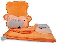 """Възглавница и одеяло 2 в 1 - Orange - Комплект от серията """"Betsy SnooziHedz"""" -"""