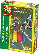 Цветни тебешири - Комплект от 12 броя