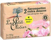 Le Petit Olivier Extra Mild Soap Bars Peony - олио