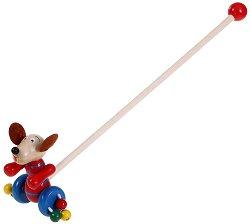 Кученце - Дървена играчка за бутане - играчка