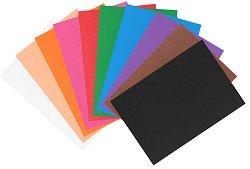 Листове EVA пяна - различни цветове - Комплект от 10 броя