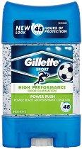 Gillette Power Rush Antiperspirant - Део гел против изпотяване с микрогранули -
