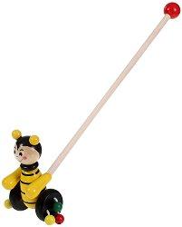 Пчеличка - Дървена играчка за бутане - продукт